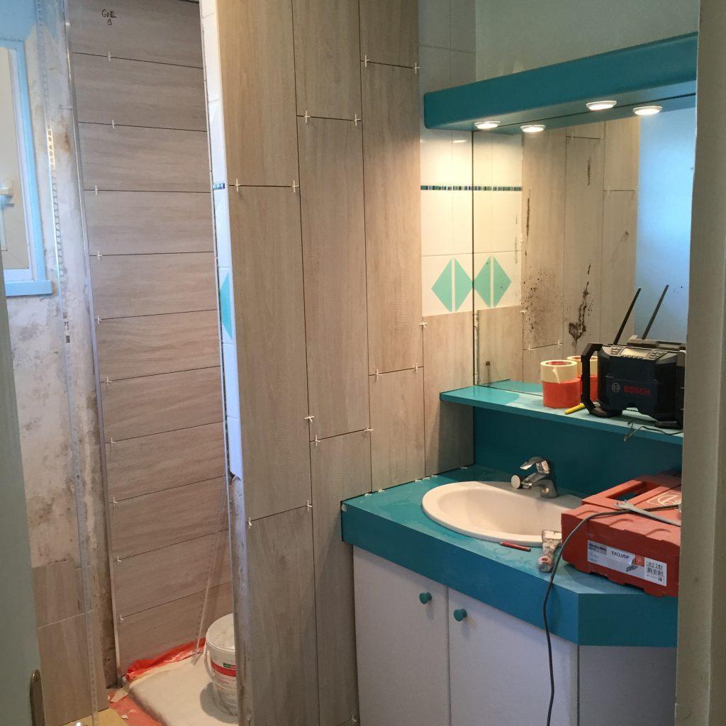 R alisation salle de bain larmor plage an oriant sols - Realisation salle de bain ...