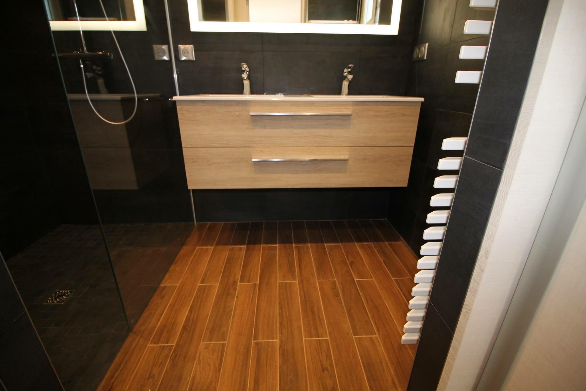 Salle De Bain Halo réalisation d'une salle de bain à guidel – an oriant sols